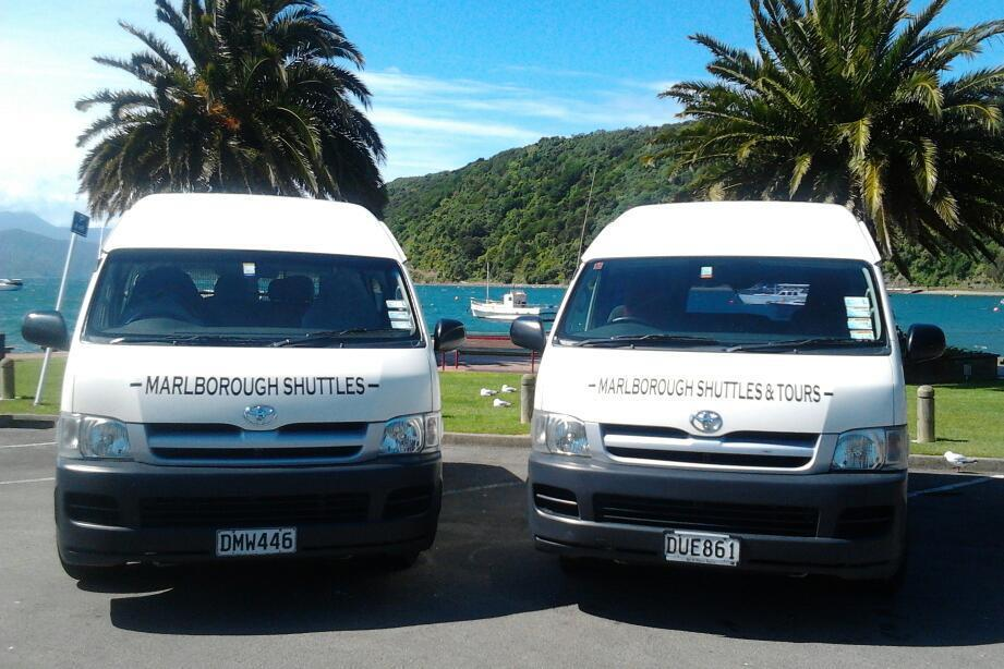 Vans Used By Marlborough Shuttles In Blenheim