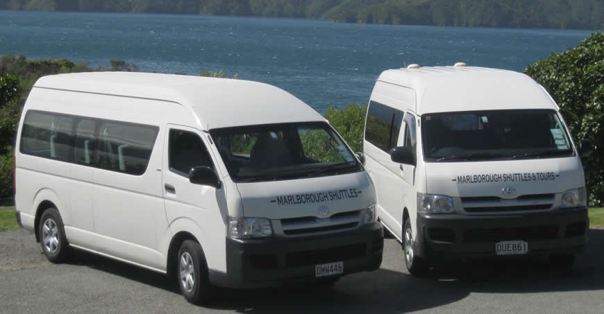 Transport Vehicles Used At Marlborough Shuttles In Blenheim NZ