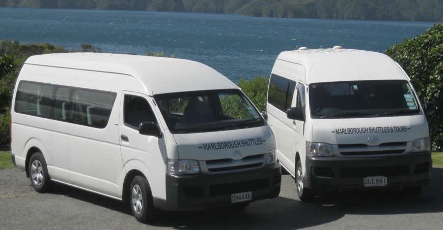 Transport Vehicles Used At Marlborough Shuttles In Blenheim NZ